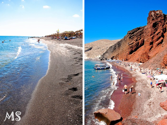 Red beach - black beach-2